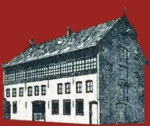 Logo Vermeulen modeschoenen pand Dongen oud leerlooierij monumentaal pand